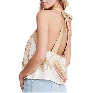 Free People Embroidered Tank with open back